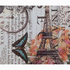 Vintage Clock Blue Butterfly Paris Eiffel Tower Fashion Canvas 20  x 24  (Unframed)