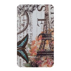 Vintage Clock Blue Butterfly Paris Eiffel Tower Fashion Memory Card Reader (Rectangular)