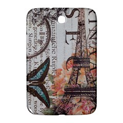 Vintage Clock Blue Butterfly Paris Eiffel Tower Fashion Samsung Galaxy Note 8 0 N5100 Hardshell Case