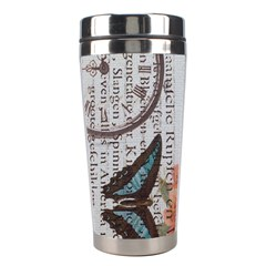 Vintage Clock Blue Butterfly Paris Eiffel Tower Fashion Stainless Steel Travel Tumbler