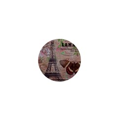Girly Bee Crown  Butterfly Paris Eiffel Tower Fashion 1  Mini Button