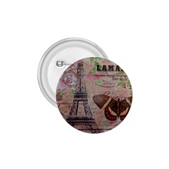 Girly Bee Crown  Butterfly Paris Eiffel Tower Fashion 1.75  Button