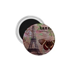Girly Bee Crown  Butterfly Paris Eiffel Tower Fashion 1.75  Button Magnet