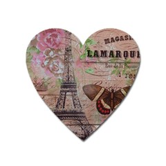 Girly Bee Crown  Butterfly Paris Eiffel Tower Fashion Magnet (heart)