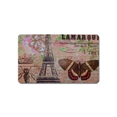 Girly Bee Crown  Butterfly Paris Eiffel Tower Fashion Magnet (Name Card)