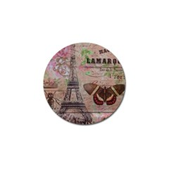 Girly Bee Crown  Butterfly Paris Eiffel Tower Fashion Golf Ball Marker 10 Pack