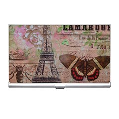 Girly Bee Crown  Butterfly Paris Eiffel Tower Fashion Business Card Holder