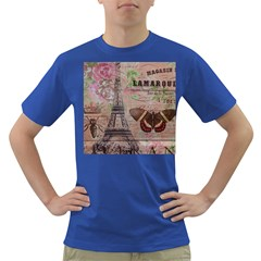 Girly Bee Crown  Butterfly Paris Eiffel Tower Fashion Mens' T-shirt (Colored)