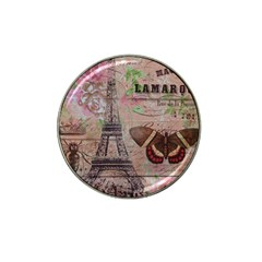 Girly Bee Crown  Butterfly Paris Eiffel Tower Fashion Golf Ball Marker 4 Pack (for Hat Clip)