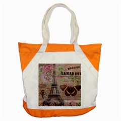 Girly Bee Crown  Butterfly Paris Eiffel Tower Fashion Accent Tote Bag