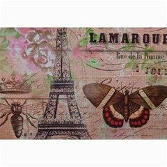 Girly Bee Crown  Butterfly Paris Eiffel Tower Fashion Canvas 20  X 30  (unframed)