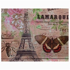 Girly Bee Crown  Butterfly Paris Eiffel Tower Fashion Canvas 36  x 48  (Unframed)