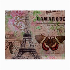 Girly Bee Crown  Butterfly Paris Eiffel Tower Fashion Glasses Cloth (Small, Two Sided)
