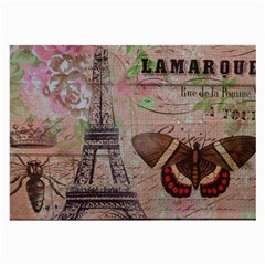 Girly Bee Crown  Butterfly Paris Eiffel Tower Fashion Glasses Cloth (Large, Two Sided)