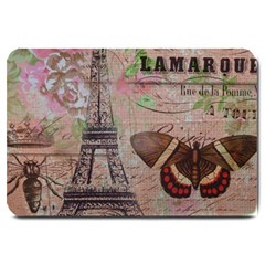 Girly Bee Crown  Butterfly Paris Eiffel Tower Fashion Large Door Mat
