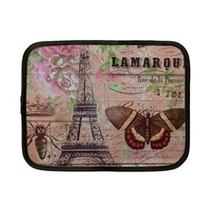 Girly Bee Crown  Butterfly Paris Eiffel Tower Fashion Netbook Case (Small)