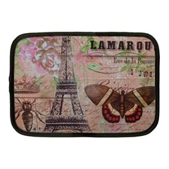 Girly Bee Crown  Butterfly Paris Eiffel Tower Fashion Netbook Case (Medium)