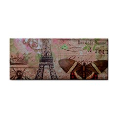 Girly Bee Crown  Butterfly Paris Eiffel Tower Fashion Hand Towel