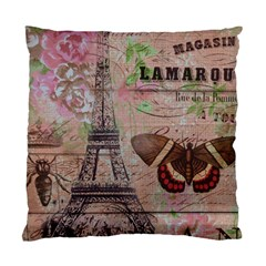 Girly Bee Crown  Butterfly Paris Eiffel Tower Fashion Cushion Case (Single Sided)