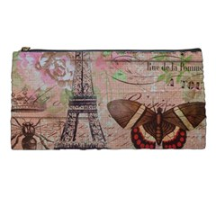 Girly Bee Crown  Butterfly Paris Eiffel Tower Fashion Pencil Case