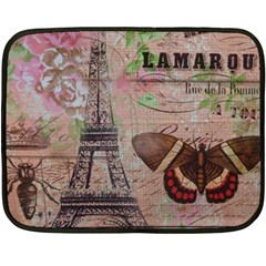 Girly Bee Crown  Butterfly Paris Eiffel Tower Fashion Mini Fleece Blanket (two Sided)