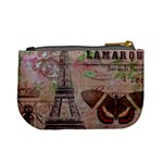 Girly Bee Crown  Butterfly Paris Eiffel Tower Fashion Coin Change Purse Back