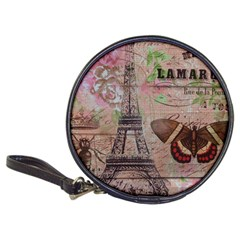 Girly Bee Crown  Butterfly Paris Eiffel Tower Fashion CD Wallet