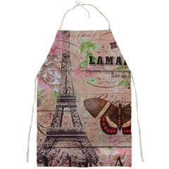 Girly Bee Crown  Butterfly Paris Eiffel Tower Fashion Apron