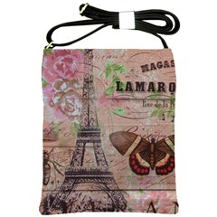 Girly Bee Crown  Butterfly Paris Eiffel Tower Fashion Shoulder Sling Bag
