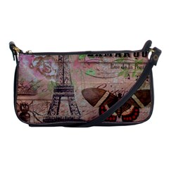 Girly Bee Crown  Butterfly Paris Eiffel Tower Fashion Evening Bag