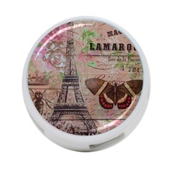 Girly Bee Crown  Butterfly Paris Eiffel Tower Fashion 4 Port Usb Hub (two Sides)