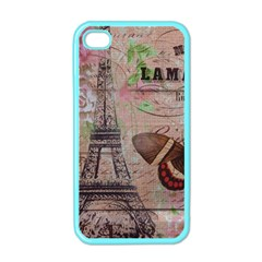 Girly Bee Crown  Butterfly Paris Eiffel Tower Fashion Apple iPhone 4 Case (Color)