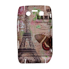 Girly Bee Crown  Butterfly Paris Eiffel Tower Fashion BlackBerry Bold 9700 Hardshell Case