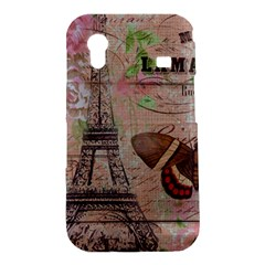 Girly Bee Crown  Butterfly Paris Eiffel Tower Fashion Samsung Galaxy Ace S5830 Hardshell Case
