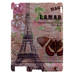 Girly Bee Crown  Butterfly Paris Eiffel Tower Fashion Apple iPad 2 Hardshell Case