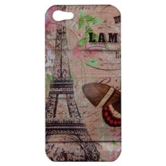 Girly Bee Crown  Butterfly Paris Eiffel Tower Fashion Apple iPhone 5 Hardshell Case
