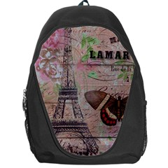 Girly Bee Crown  Butterfly Paris Eiffel Tower Fashion Backpack Bag