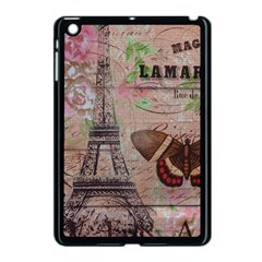 Girly Bee Crown  Butterfly Paris Eiffel Tower Fashion Apple iPad Mini Case (Black)