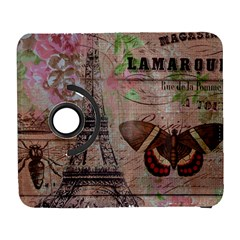 Girly Bee Crown  Butterfly Paris Eiffel Tower Fashion Samsung Galaxy S  Iii Flip 360 Case