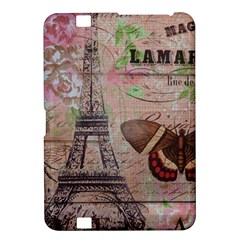 Girly Bee Crown  Butterfly Paris Eiffel Tower Fashion Kindle Fire Hd 8 9  Hardshell Case