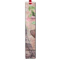 Girly Bee Crown  Butterfly Paris Eiffel Tower Fashion Large Bookmark