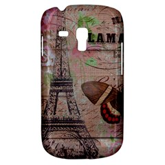 Girly Bee Crown  Butterfly Paris Eiffel Tower Fashion Samsung Galaxy S3 Mini I8190 Hardshell Case