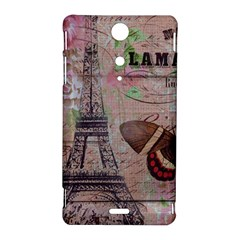 Girly Bee Crown  Butterfly Paris Eiffel Tower Fashion Sony Xperia TX Hardshell Case