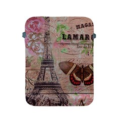 Girly Bee Crown  Butterfly Paris Eiffel Tower Fashion Apple Ipad 2/3/4 Protective Soft Case