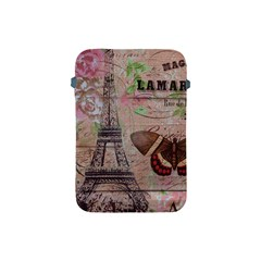 Girly Bee Crown  Butterfly Paris Eiffel Tower Fashion Apple iPad Mini Protective Soft Case