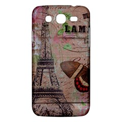 Girly Bee Crown  Butterfly Paris Eiffel Tower Fashion Samsung Galaxy Mega 5.8 I9152 Hardshell Case