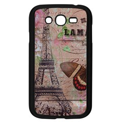 Girly Bee Crown  Butterfly Paris Eiffel Tower Fashion Samsung I9082(Galaxy Grand DUOS)(Black)