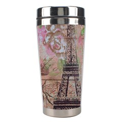 Girly Bee Crown  Butterfly Paris Eiffel Tower Fashion Stainless Steel Travel Tumbler