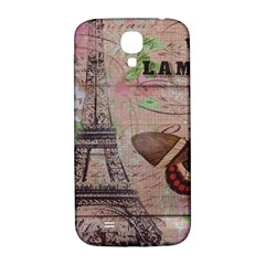 Girly Bee Crown  Butterfly Paris Eiffel Tower Fashion Samsung Galaxy S4 I9500/I9505  Hardshell Back Case