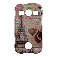 Girly Bee Crown  Butterfly Paris Eiffel Tower Fashion Samsung Galaxy S7710 Xcover 2 Hardshell Case